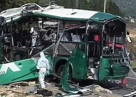 exploded bus