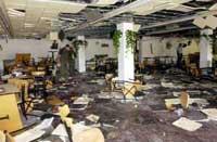 university bombed